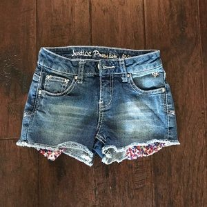 Girls Justice Embellished Denim Shorts